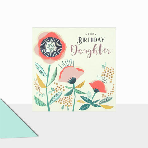 Happy,Birthday,Daughter,Floral,Card,buy daughter birthday cards online, buy birthday cards for daughters online, buy pretty birthday cards for wonderful daughter online, buy floral birthday cards for daughters online, buy daughter birthday cards with flowers online