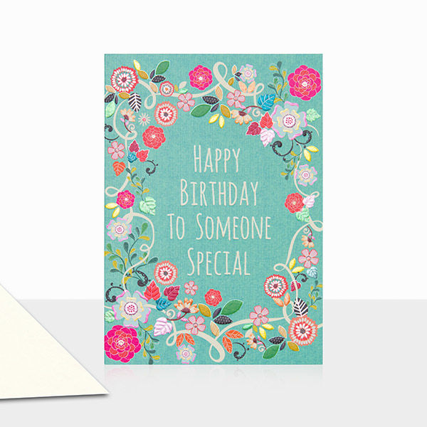 Floral To Someone Special Happy Birthday Card - product images