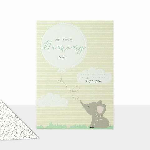 Elephant,On,Your,Naming,Day,Card,buy naming day cards online, buy babys naming day card online, buy elephant naming day card online, buy on your naming day card for baby girl online, buy elephant naming day card for baby boy online,
