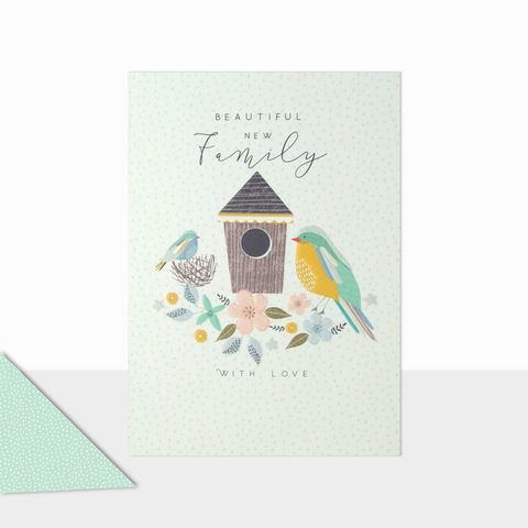 Beautiful,New,Family,Card,buy adoption cards online, buy new family cards online, buy baby girl card online, buy baby boy card online, buy baby cards for single parent online, buy baby cards for adoption online, buy baby boy card online with blue birds,