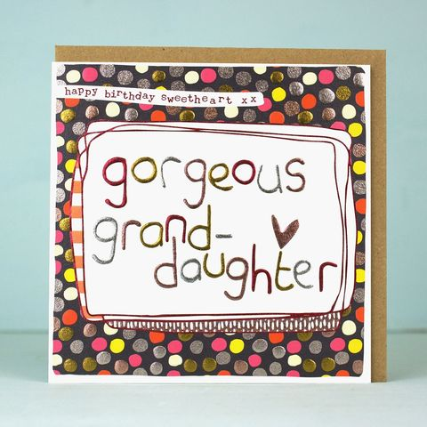 Gorgeous,Grand-Daughter,Birthday,Card,buy grand-daughter birthday card online, buy birthday cards for granddaughters online, buy card from grandparent online, buy card from grandma online, buy birthday cards for grand-daughters online, buy birthday cards for grandchilren online, buy grandchil