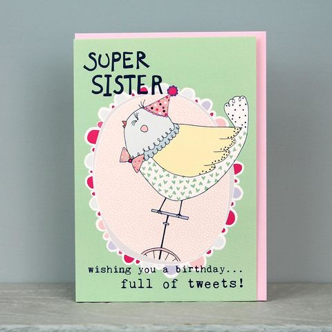 Bird,Super,Sister,Birthday,Card,buy birthday cards for sister online, buy birthday cards for little sister online, buy birthday cards for young sister online, buy birthday card for siblings online, buy bird birthday cards online, buy bird birthday cards for sisters online, super sister