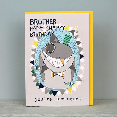 Shark,Brother,Birthday,Card,buy birthday cards for brother online, buy birthday cards for little brother online, buy birthday cards for young brother online, buy birthday card for siblings online, buy animal birthday cards for brother online, buy shark jaws birthday cards online, bu