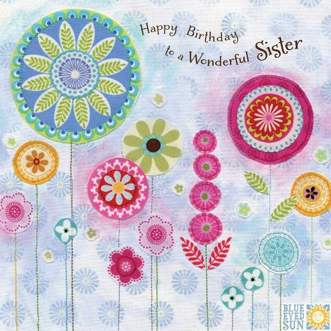 Floral,Wonderful,Sister,Birthday,Card,buy sister birthday cards online with butterflies, buy pretty birthday cards for a special sister online, buy sister birthday card with flowers online, buy nature flowers birthday cards for sibling,
