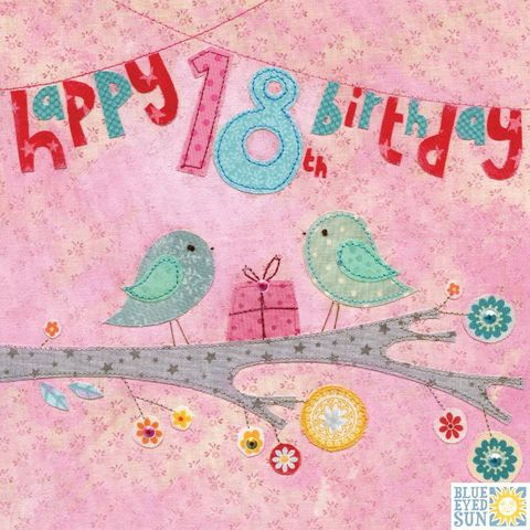 Birds,&,Present,18th,Birthday,Card,buy 18th birthday card online, buy bird 18th birthday card online, buy 18th birthday cards with birds online, buy 18th birthday cards for her online, buy age eighteen birthday cards for her online, buy girls 18th birthday card with birds online,