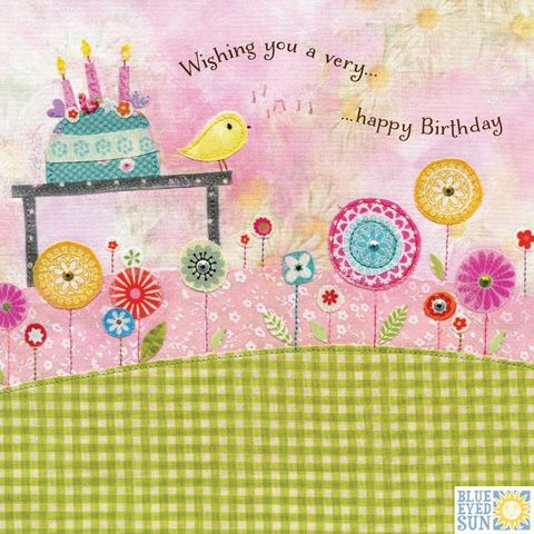 Birthday,Cake,&,Bird,Card,buy birthday cake birthday cards for her online, buy garden birthday cards for her online with nature, flowers, trees, birds, buy pretty birthday cards for her online, buy bird birthday cards for her online, buy pretty female birthday cards with cake onli