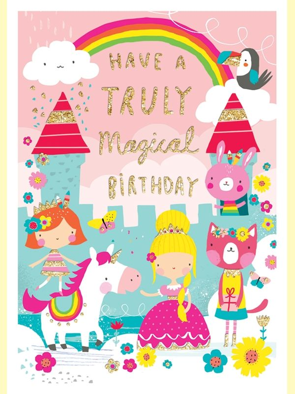 Princess Castle Girls Birthday Card - product images  of