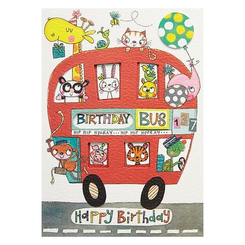 Birthday,Bus,Card,buy animal birthday card for child online, boy boys birthday cards online, buy kids birthday cards with animals online, buy cute birthday cards for kids online, buy rachel ellen kids birrhday cards online, buy birthday bus birthday card online