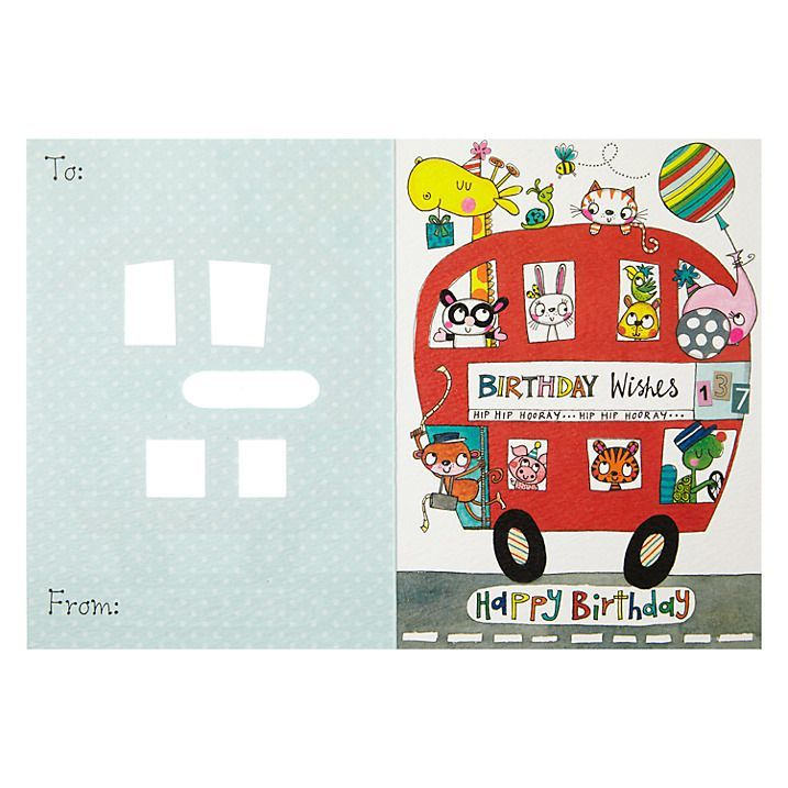 Birthday Bus Birthday Card - product images  of