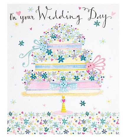 Wedding,Cake,On,Your,Day,Card,buy wedding cards online, buy bride and groom cards online, buy on your wedding day card online, buy wedding cards with wedding cake online, buy pretty wedding cards online, buy floral wedding day cards online,