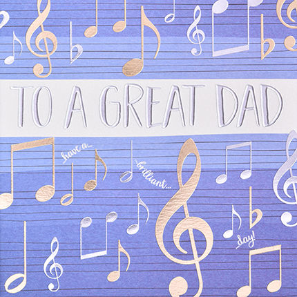 Musical,Notes,Great,Dad,Card,buy dad birthday cards online buy birthday cards for dads online, buy great dad birthday card online, buy birthday cards for parents online, buy great dad fathers day card online, buy fathers day cards for dads online, buy musical notes father day card on