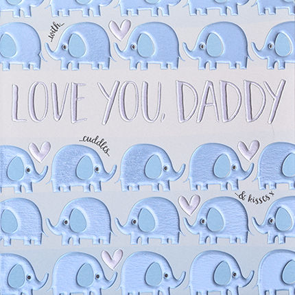 Elephants,Love,you,Daddy,Card,buy daddy birthday cards online, buy elephant birthday cards for daddies online, buy daddy with love birthday card online, buy birthday cards for parents online, buy daddy fathers day card online, buy fathers day cards for daddy online, buy elephant daddy
