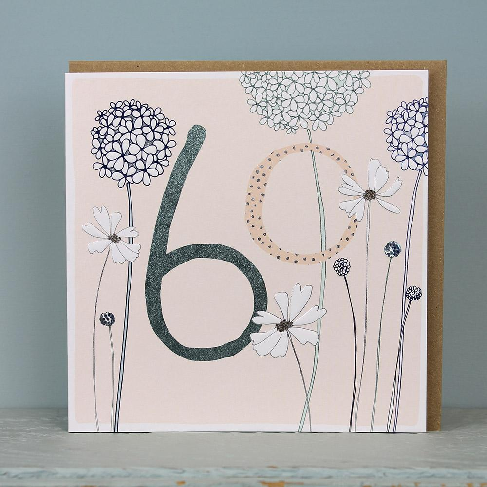 buy 60th birthday card for her online from karenza paperie age fifty 50 fifiteth birthday cards