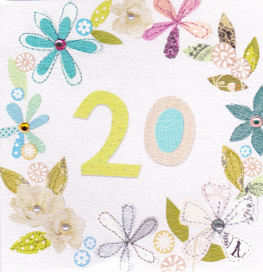 buy 20th birthday cards online for her from karenza paperie age 20, twenty,