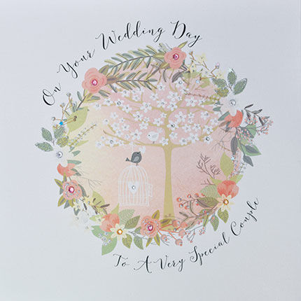 To A Very Special Couple On Your Wedding Day Card - Large, Luxury Card - product images  of