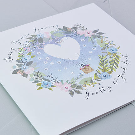 Sorry You're Leaving Goodbye & Good Luck Card - Large, Luxury Card - product images  of