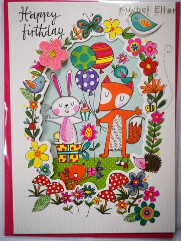 Woodland,Creatures,Birthday,Card,buy animal birthday card for child online, boy boys birthday cards online, buy kids birthday cards with animals online, buy cute birthday cards for kids online, buy rachel ellen kids birrhday cards online, buy girls birthday card with animals online