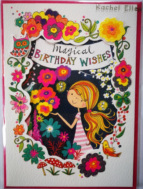 Magical Birthday Wishes Girl Birthday Card