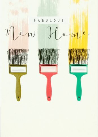 Paintbrush,Fabulous,New,Home,Card,buy fabulous new home card online, buy new home cards with paintbrush online, buy new home card online, buy cards for new homes online, buy congratulations on your new home card online, buy cards for new homes with paintbrushes,
