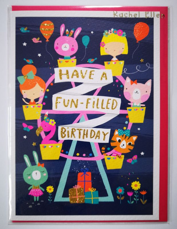 Ferris Wheel Girls Birthday Card - product images  of