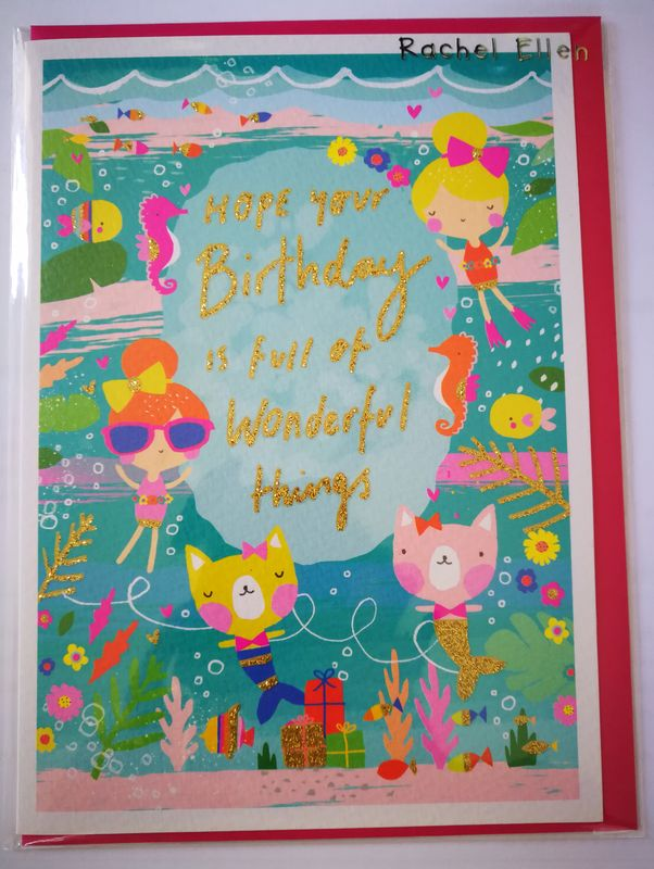 Mermaid Girls Birthday Card - product images  of