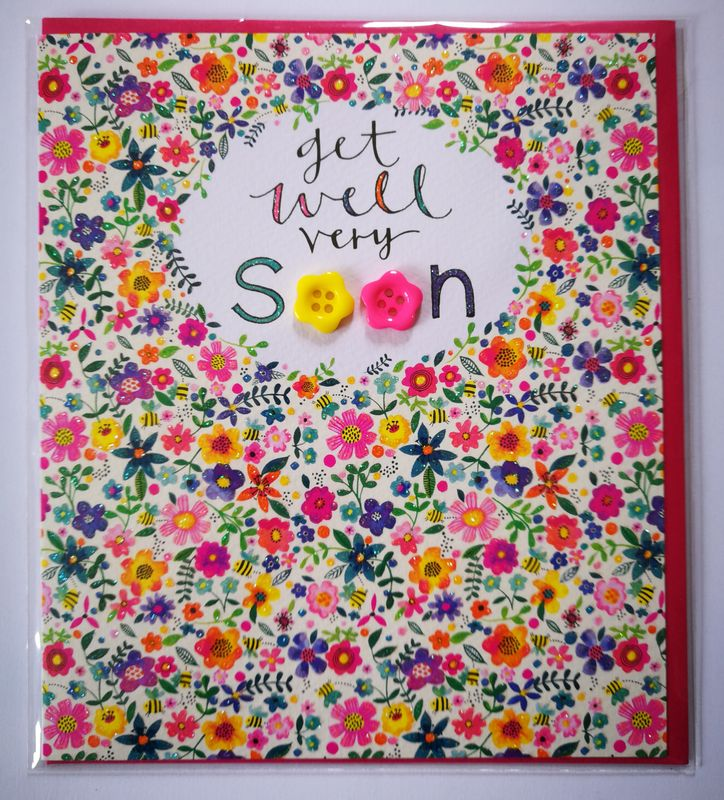 Floral Get Well Very Soon Card - product images  of