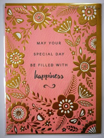 May,Your,Special,Day,Be,Filled,With,Happiness,Card,buy birthday cards for her online, buy birthday cards with butterflies online, buy butterfly birthday cards online, buy unisex bird birthday cards online, buy  birthday cards with birds online
