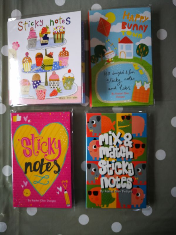 Rachel Ellen Book Of Sticky Notes - Happy Bunny Town Design - product images  of