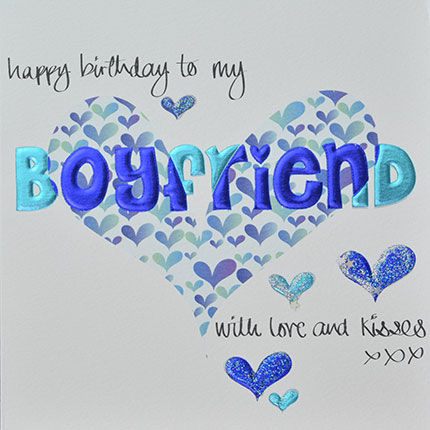 Hand,Finished,Boyfriend,Birthday,Card,buy boyfriend birthday card online, buy boyfriend birthday card with hearts online, buy birthday cards for boyfriend online, boyfriend card, cards for boyfriends, boy friend card, to the one i love birthday card