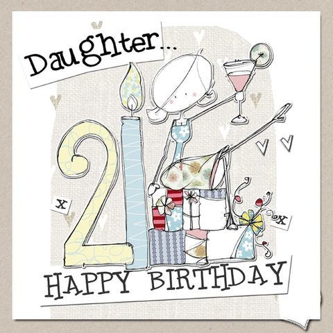 Hand,Finished,Daughter,21st,Birthday,Card,-,Large,buy daughter 21st birthday cards online, buy 21st birthday cards for daughters online, daughter age twenty-one birthday cards, buy large 21st birthday cards online, buy luxury twenty first birthday cards for grand-daughters and daughters online