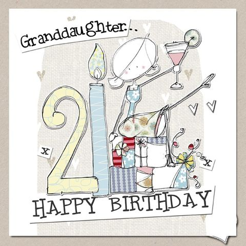 Hand,Finished,Granddaughter,21st,Birthday,Card,-,Large,buy granddaughter 21st birthday cards online, buy 21st birthday cards for grand-daughters online, granddaughter age twenty-one birthday cards, buy large 21st birthday cards online, buy luxury twenty first birthday cards for grandchildren and grandchild on