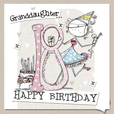 18TH BIRTHDAY CARD SON DAUGHTER GRANDSON GRANDDAUGHTER EIGHTEENTH MALE FEMALE Feesten Speciale Gelegenheden