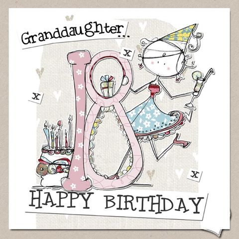 Hand,Finished,Granddaughter,18th,Birthday,Card,-,Large,buy granddaughter 18th birthday cards online, buy 18th birthday cards for granddaughters online, grand-daughter age eighteen birthday cards, buy large 18th birthday cards online, buy luxury eighteenth birthday cards for grand-daughters and grandchildren