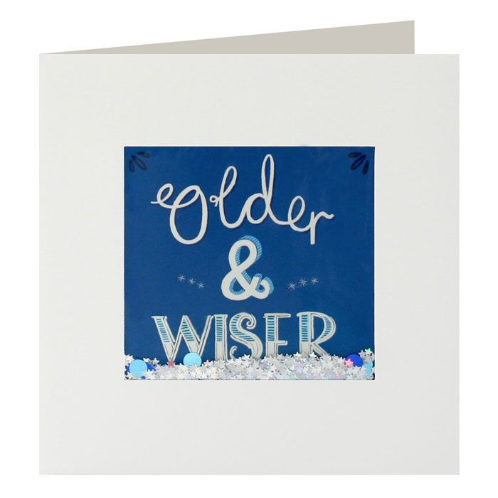 Shakies Older And Wiser Birthday Card - product images