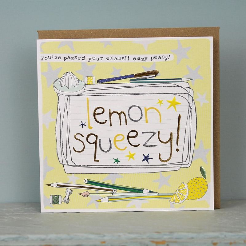 You've Passed Your Exams Easy Peasy Lemon Squeezy Card - product images