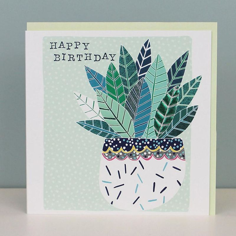 House Plant Happy Birthday Card - product images