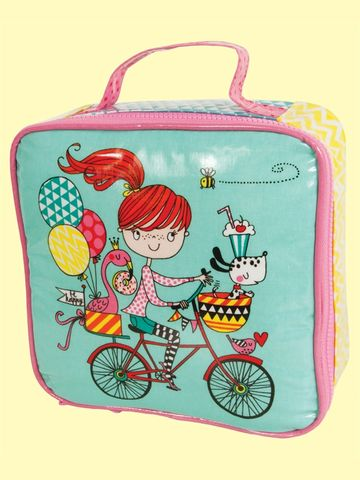 Rachel,Ellen,Girl,On,Bicycle,Lunch,Bag,buy rachel ellen girl on bicycle lunch bag online, buy girls lunch bags and boxes for school online, buy back to school lunch boxes online, buy girls lunch bag with cute design online girls dog balloons, buy flamingo lunch box online, flamingo gifts onlin