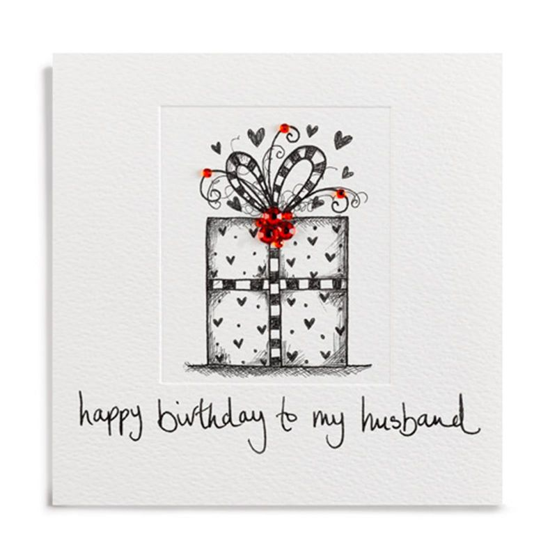 Hand Finished Birthday Present Husband Birthday Card - product images  of