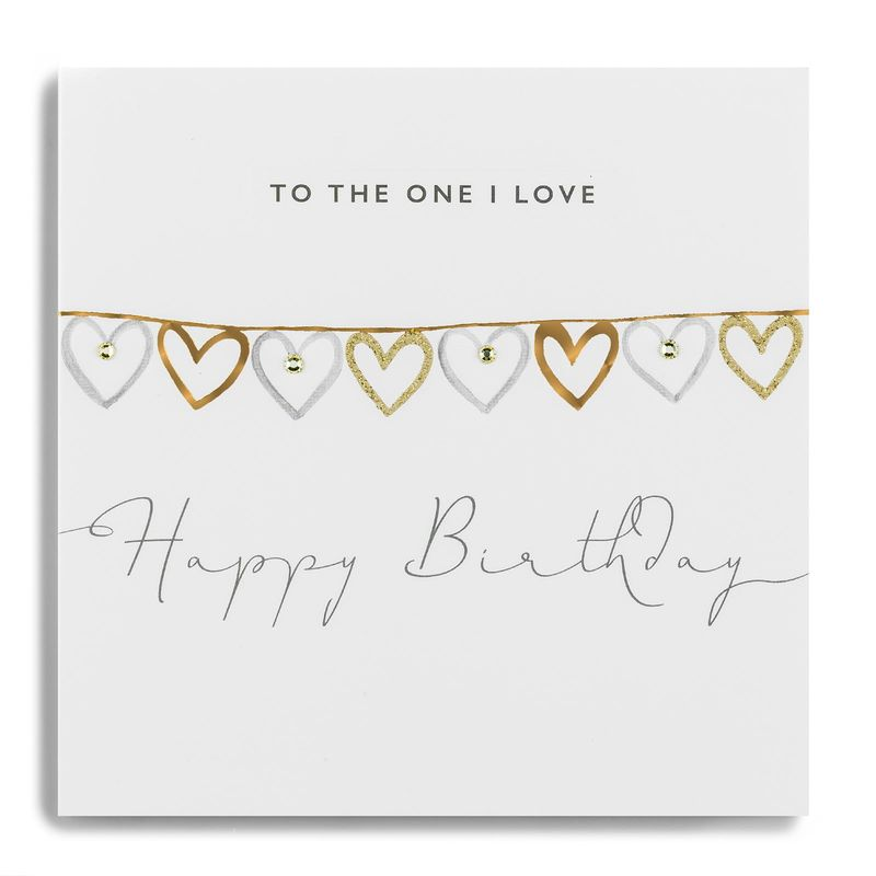 Hand Finished To The One I love Birthday Card - product images