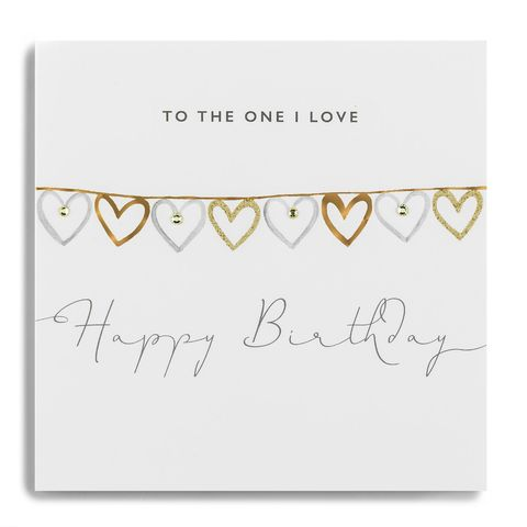 Hand,Finished,To,The,One,I,love,Birthday,Card,buy to the one i love birthday card online, buy birthday card for the one i love online, hearts to the one i love birthday cards, buy girlfriend birthday card online, buy partner birthday card online, buy boyfriend birthday card online, buy fiance birthda