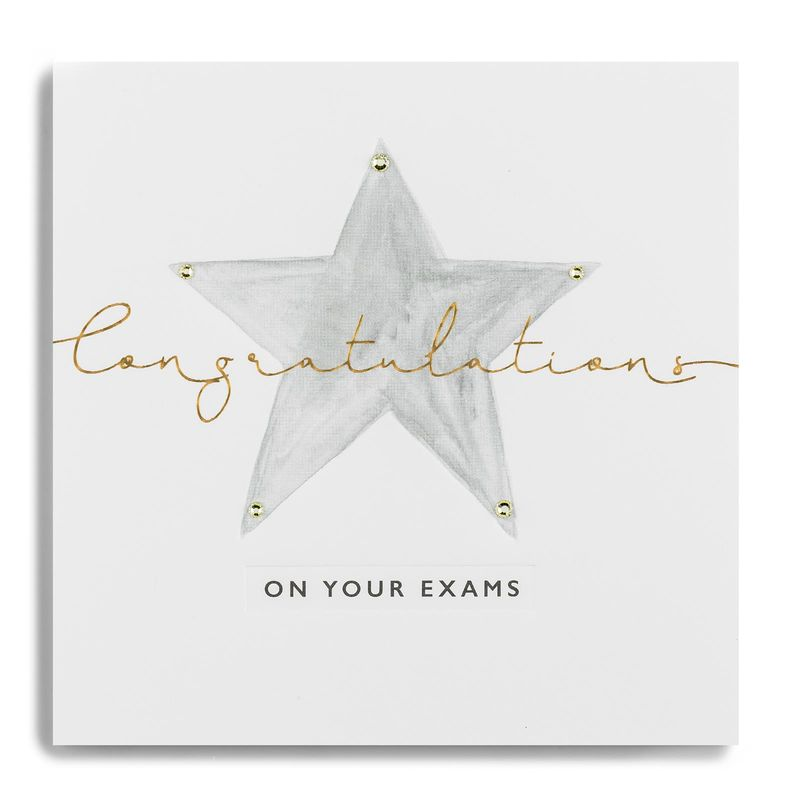 Hand Finished Congratulations On Your Exams Card - product images