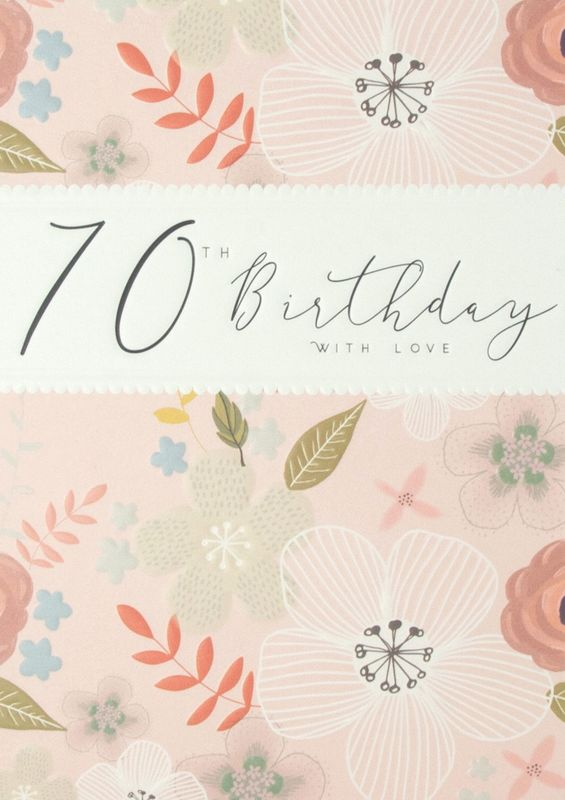 Floral 70th With Love Birthday Card - product images  of