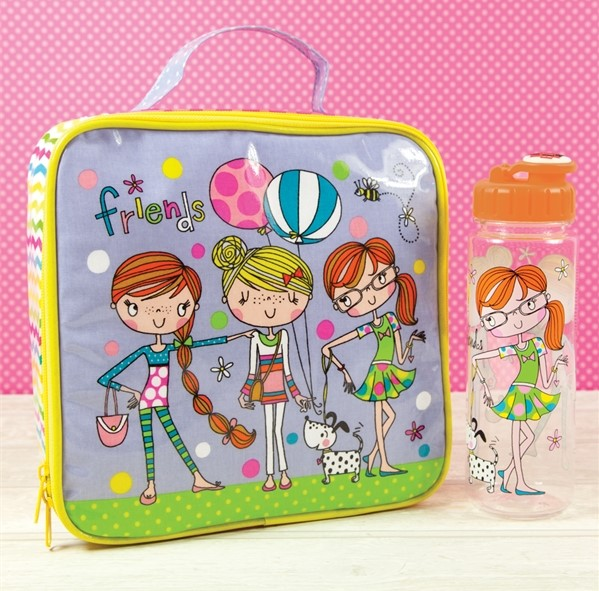 buy rachel ellen lunch bags online for back to school friends and girl on bicycle designs lunch boxes and water bottles for back to school from karenza paperie