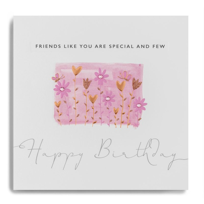 Hand Finished Friends Like You Are Special And Few Birthday Card - product images