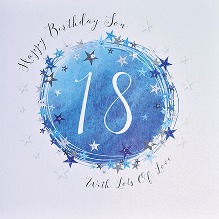 Stars Son 18th Birthday Card