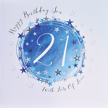 Stars,Son,21st,Birthday,Card,-,Large,Luxury,buy son 21st birthday card online, buy 21st birthday card for son online, buy deluxe birthday cards online, buy large son twenty-first birthday cards online, buy luxury age twenty one birthday cards online for sons, age twenty-one birthday card for son, s