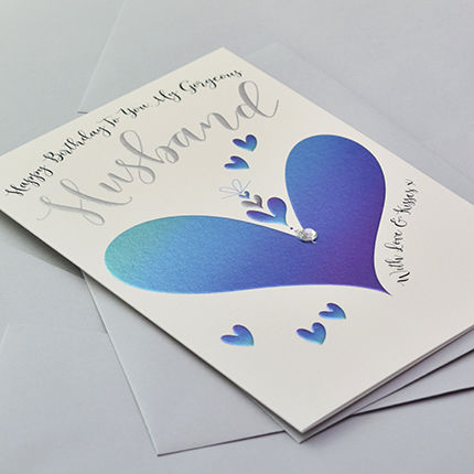Hand Finished To You My Gorgeous Husband Birthday Card - product images  of