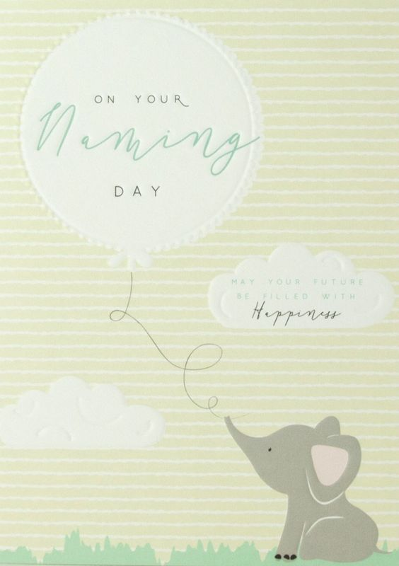 Elephant On Your Naming Day Card - product images  of