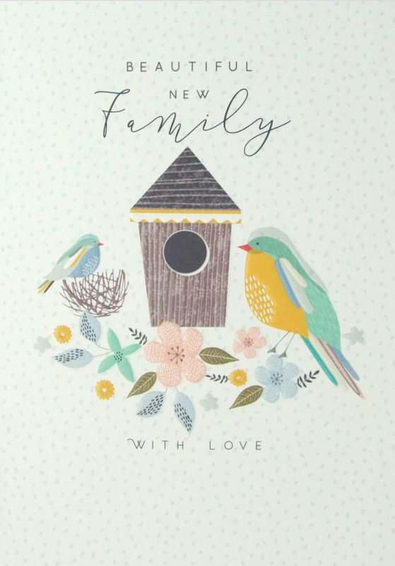 Beautiful New Family Card - New Baby Card - product images  of