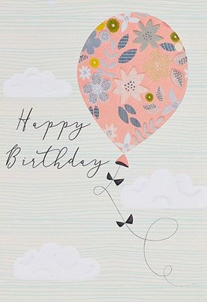 Balloon Happy Birthday Card - product images  of